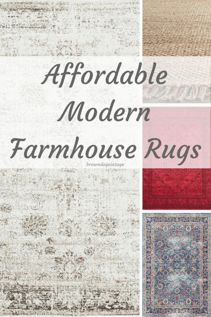Affordable Modern Farmhouse Rugs #createandfind #farmhousestyle #rugs #farmhouserugs