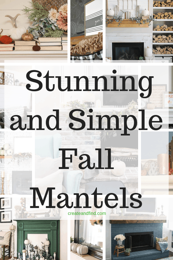Stunning and simple fall mantel decorating ideas - from thrift store finds to shopping the house, get some inspiration from these fall decor ideas #createandfind #fallmantels #falldecor #fall