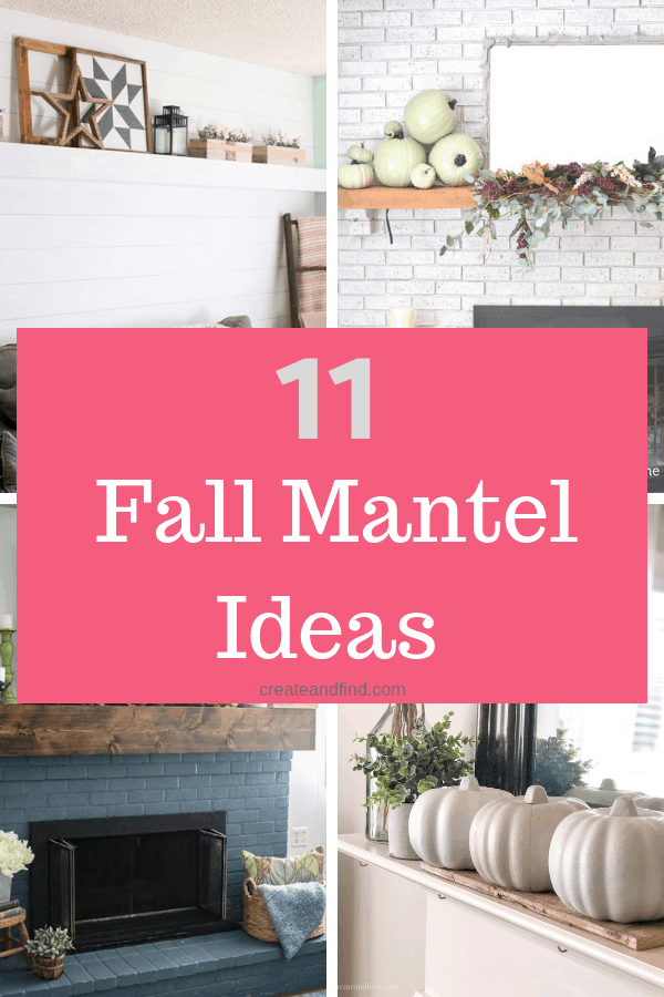 11 gorgeous fall mantels to inspire your decor this year. Simple and thrifty ways to update your fall decor #createandfind #fallmantels #mantels #falldecor