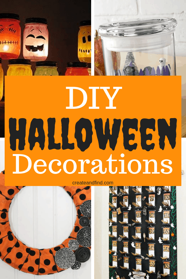 9 Amazing DIY Halloween Decorations you can make this season! DIY halloween projects to add to your decor #createandfind #halloween #diyhalloweendecorations #diyprojects