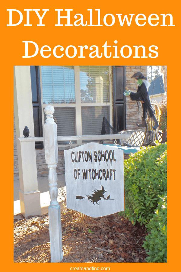 9 Amazing DIY Halloween Decorations to make this Halloween season #createandfind #diyhalloweendecor #halloween