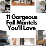 11 Gorgeous Fall Mantels - DIY and decor inspiration for fall decor #createandfind #fallmantel #diyfalldecor #falldecor