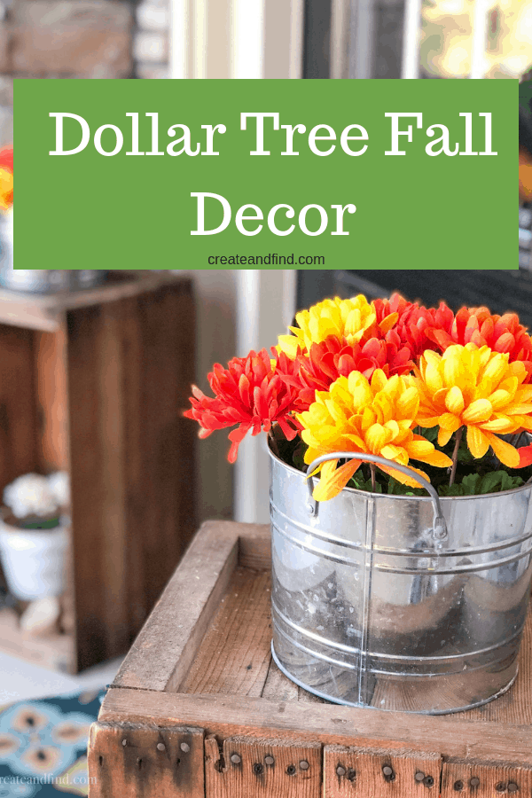 Dollar Tree fall porch decor - simple and easy decorating to update your outdoor living space for cheap! #fallfrontporch #fallporchdecor #falldecor #fallporch #easydiyprojects #cheapdiyprojects