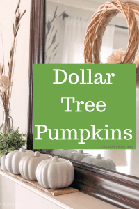 Dollar Tree DIY Pumpkins for a neutral fall mantel. An easy DIY project that fall decorating #createandfind #diyproject #falldecor #fallmantel #neutralfalldecor
