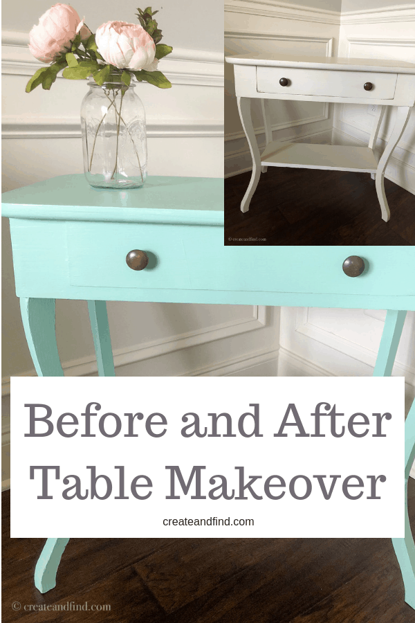 Antique side table makeover - A DIY furniture project to show you how to update an old piece of furniture with Fusion Mineral paint in Laurentien #diyprojects #furnituremakeovers #tablemakeover #paintedfuniture