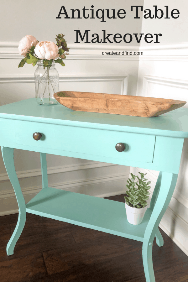 Antique side table makeover - this DIY furniture project is an easy and quick makeover using Fusion Mineral paint. #diyprojects #furnituremakeover #furniture #paintedtable #tablemakeover