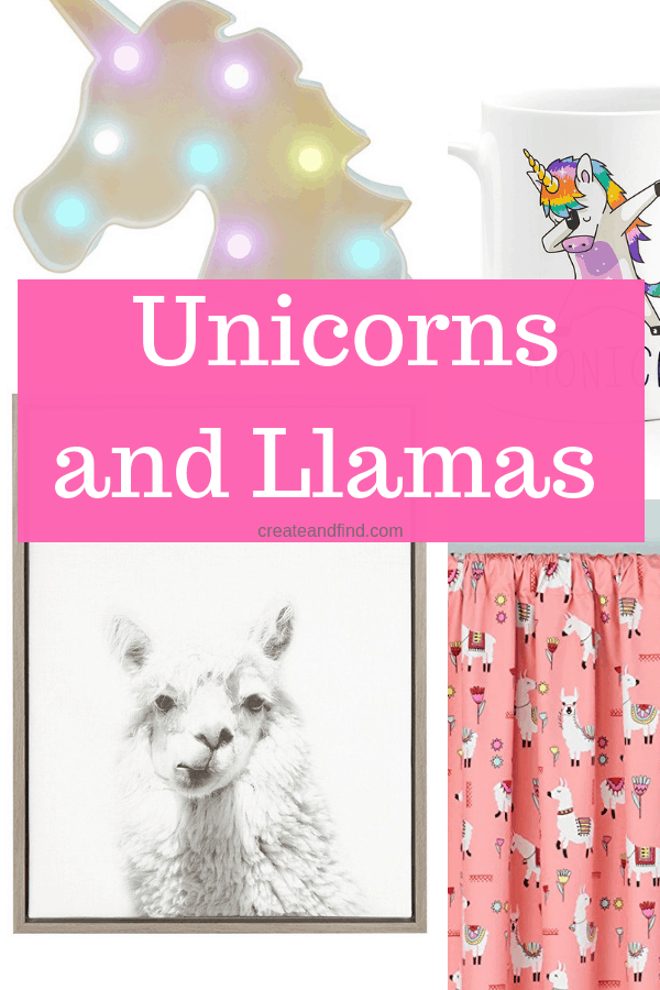 Amazing Unicorn and LLama Decor ideas for your home #createandfind #unicorndecor #llamadecor