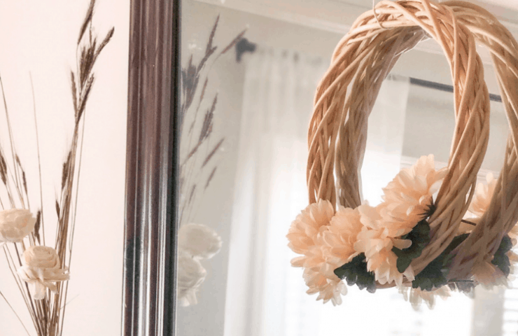 Thrifty DIY Projects - $3 wreath with dollar store supplies