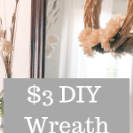 Easy $3 DIY Fall Wreath using Dollar Tree supplies - make your own fall decor for cheap! No fancy skills needed for this simple DIY project. #falldecor #diywreath #easydiyproject #fallwreath #neutralfalldecor