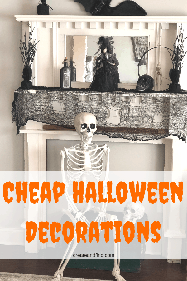 Cheap Halloween Decorations - Get your house creepy and spooky for Halloween with these cheap Halloween ideas #createandfind #halloween #cheaphalloweendecor #halloweenhouse