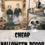 Cheap Halloween Decorations for inside and outside. A spooky Halloween house tour #createandfind #cheaphalloweendecorations #halloween