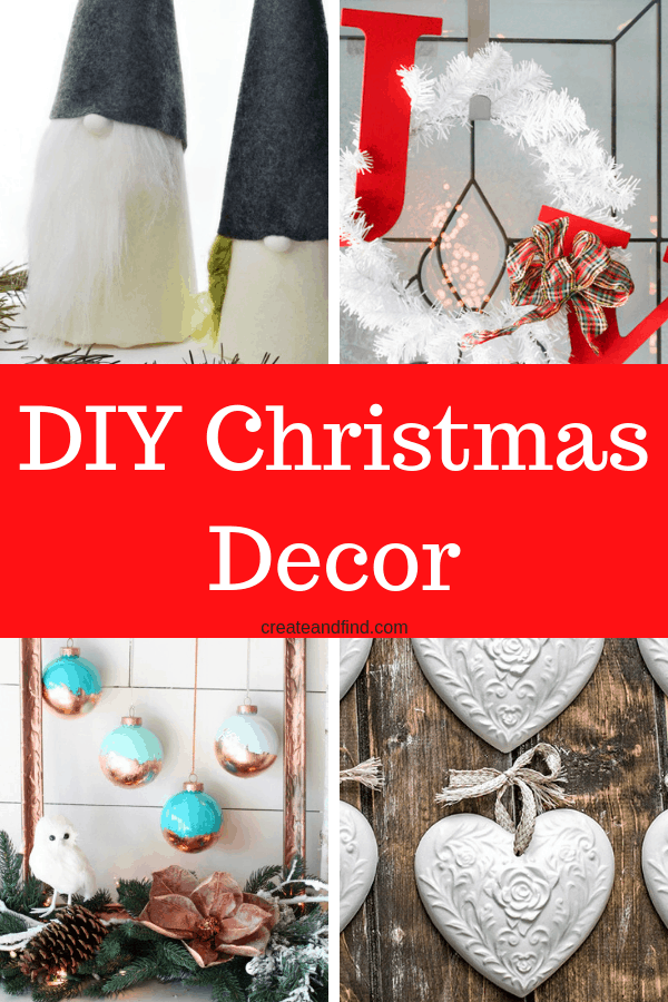 DIY Christmas decor - make your own Christmas decorations this year with these easy DIY Projects for Christmas! #createandfind #diychristmasdecor #christmasdecor #diyprojects
