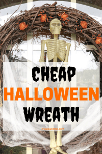 A cheap and easy DIY Halloween wreath you can make with Dollar Tree supplies