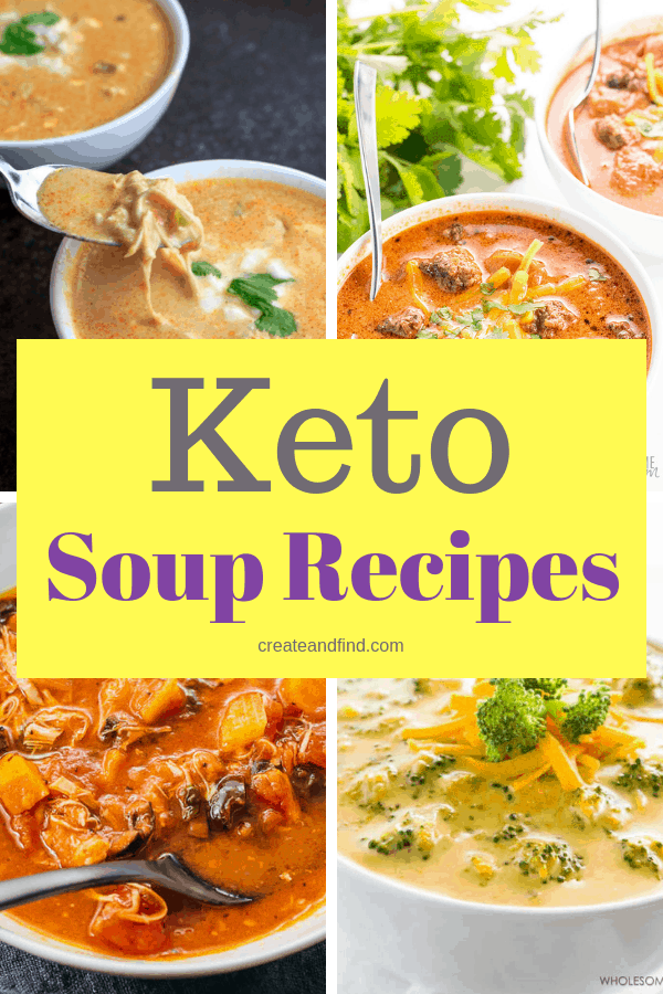 Amazing Keto Soup Recipes - Stay focused and make your keto lifestyle easier with these delicious soups and stews #createandfind #ketosoup #ketolifestyle #ketosouprecipes #heatlhyeating