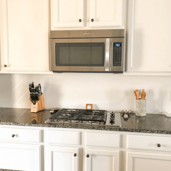 How to paint kitchen cabinets the right way! #createandfind #paintingcabinets #kitchenmakeover