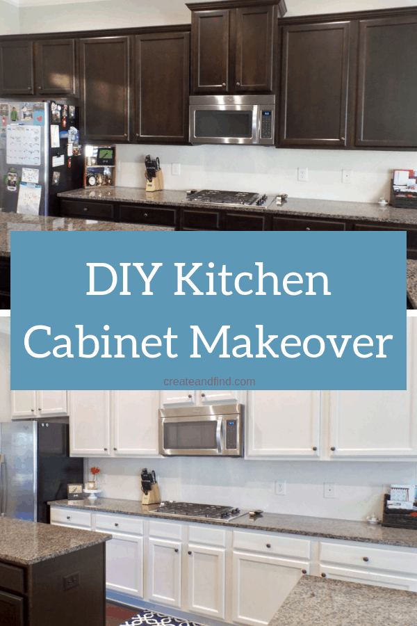 How to Paint Kitchen Cabinets - what products to use and how to use them to get a perfect finish on a budget! #createandfind #paintingcabinets #kitchenmakeover