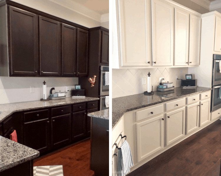 How to paint kitchen cabinets - before and after #createandfind #kitchencabinets #howtopaintcabinets #kitchenmakeover