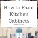 How to paint kitchen cabinets - if you're considering this DIY project, check out this article for tips, tricks, and instructions on getting a flawless finish. #createandfind #diyprojects #paintingcabinets #howtopaintkitchencabinets #kitchenmakeover