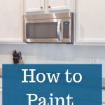 A complete guide to teach you how to paint kitchen cabinets - what you need to use, how to use it and more for this DIY project #createandfind #kitchencabinets #howtopaintcabinets #kitchens #paintingcabinets