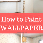 Painting Wallpaper - What you need to know for this DIY project. I'll show you how to do it and do it correctly #createandfind #diyprojects #paintingwallpaper