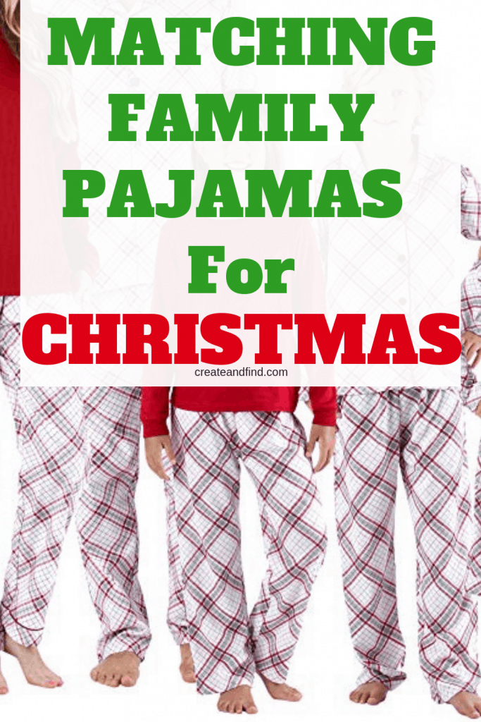Matching Family Pajamas for Christmas - get your family ready for the holidays in matching style with these amazing PJ sets for Christmas #createandfind #matchingfamilypajamas #christmaspajamas