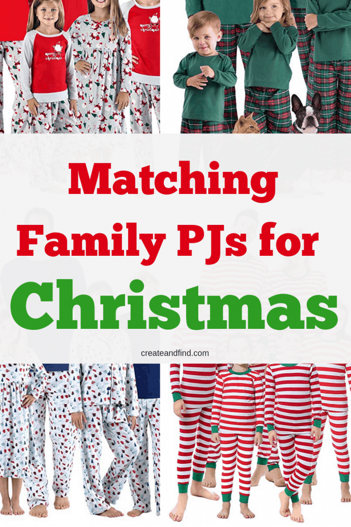 Amazing matching pajamas for the whole family - get in the holiday spirit in style this year #createandfind #matchingpajamas #christmaspajamas #holidaypajamas #christmas