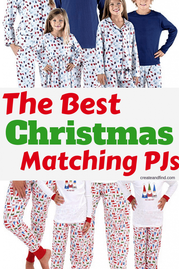 The best matching family pajamas for Christmas - get the whole family in the holiday spirit with these matching pajama sets! #createandfind #matchingpajamas #christmaspajamas #matchingchristmaspajamas