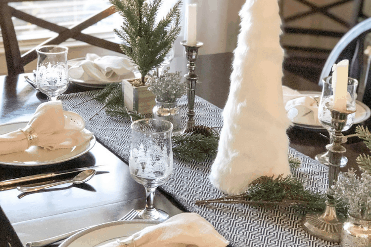 Christmas decorating on a budget - dining room