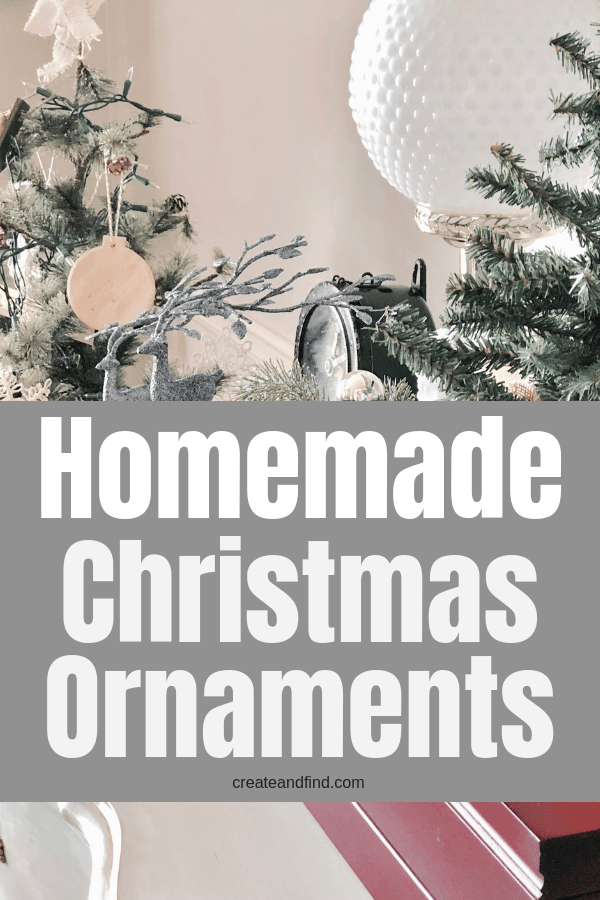Homemade Christmas Ornaments you can make using basic supplies. Two easy Christmas crafts using wood shims #createandfind #homemadeChristmasornaments #diyprojects #christmascrafts