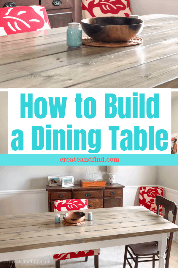 How to build your own dining table for hundreds less than buying new #createandfind #diyprojects #diytable