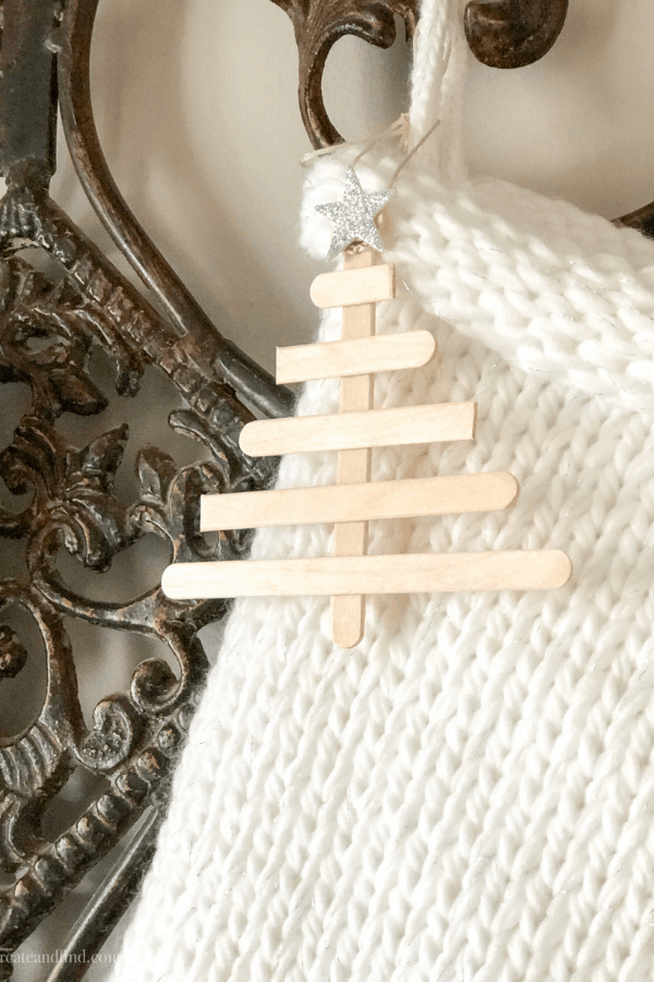 An easy DIY Christmas craft - make these popsicle sticks for ornaments, gift tags, stocking tags and more