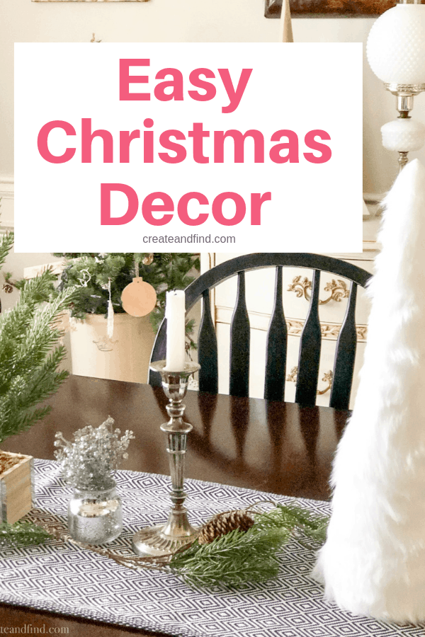 SImple Christmas decorating ideas for the dining room #createandfind #simplechristmasdecor #christmas