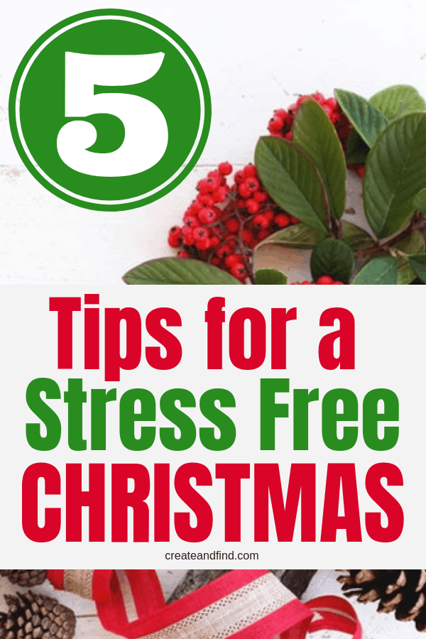 5 Tips for a Stress Free Christmas - Anti Stress solutions for this busy time of year. Calm down and be able to enjoy the season with these self care tips! #createandfind #antistress #stressfreeChristmas