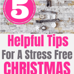 5 helpful tips for a stress free Christmas season. Enjoy the season without all the added stress this year. #createandfind #antistress #stressfree #Christmastips #Christmas