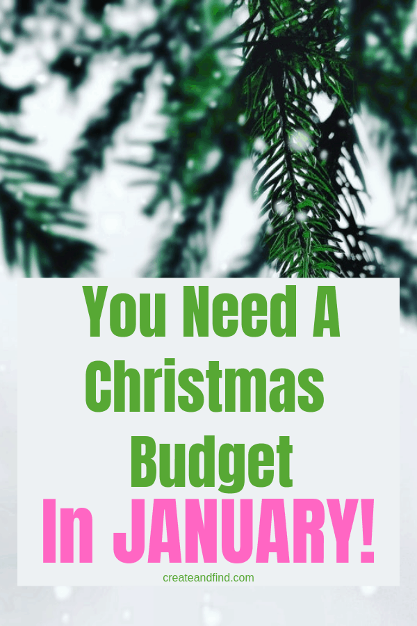 Here's why you can't afford not to have a Christmas budget this January! 