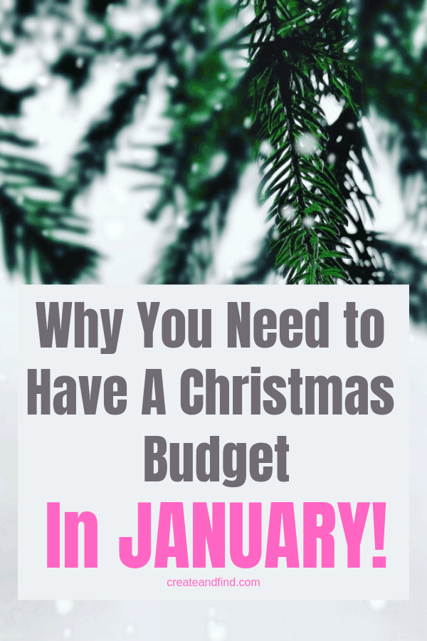 Why do you need a Christmas budget in January?  I'll show you how to get control and stay on track with the holiday spending next year.  Make a plan that starts now!  #createandfind #chistmasbudget #holidayspending #money