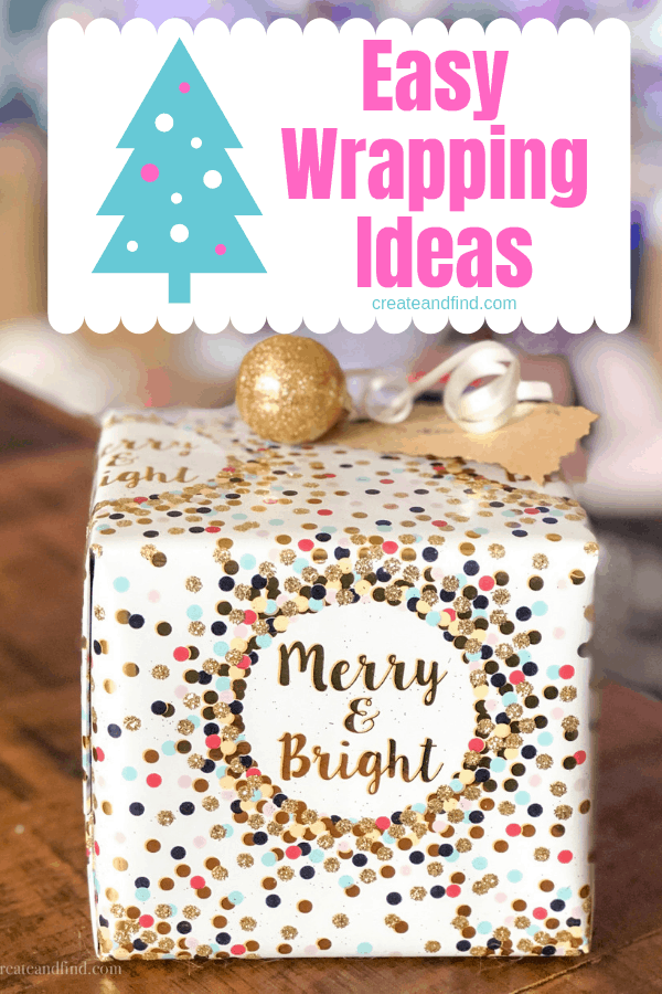 Simple and Fun Christmas wrapping ideas - no elaborate skills needed and your gifts will be creative and festive! #createandfind #christmaswrappingideas #giftwrapideas #christmas