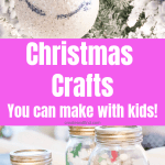 Easy Christmas Crafts to make with kids. Easy holiday DIY projects you can make with the family this year #createandfind #easychristmascraftsforkids #diychristmasdecor #Christmas #christmasdiydecor