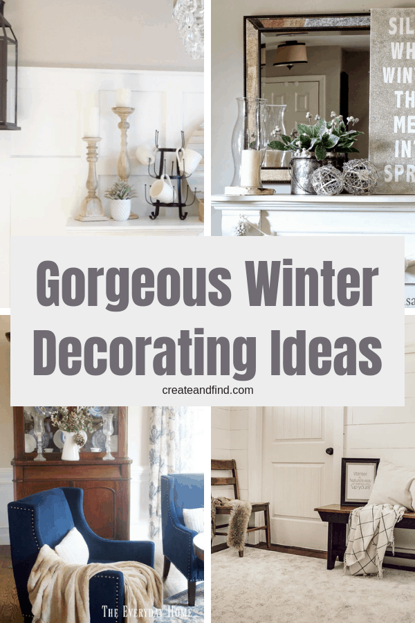 Winter decorating ideas to help you transition from all the holiday decor - calm, cozy, and easy ideas #createandfind #winterdecorating #winterdecor