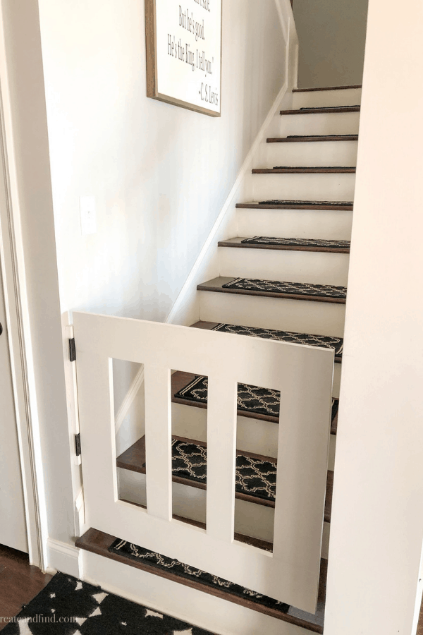 DIY Baby Gate for around $30! #createandfind #diybabygate #diyprojects #woodworking