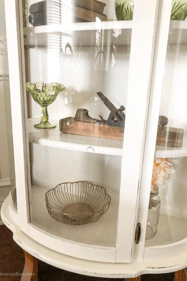Curio cabinet makeover