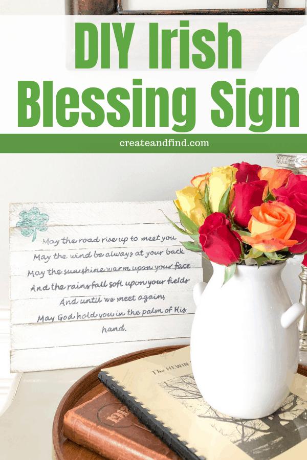 DIY Irish Blessing Sign - An easy seasonal DIY project using wood shims and craft supplies