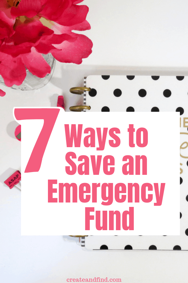 7 tips for saving an emergency fund you can't miss. Get control of your money quickly #savingmoney #money #savings