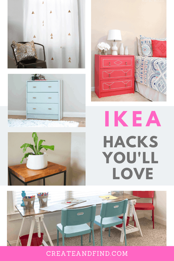Incredible IKEA hacks you won't want to miss.  See how to transform ordinary into amazing with these fantastic DIY projects.  #ikeahacks #ikeamakeovers