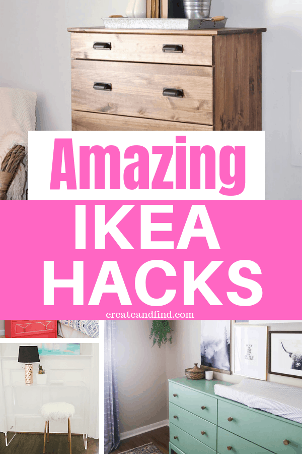 Incredible IKEA hacks you've got to see.  Budget friendly DIY projects to transform ordinary IKEA into amazing!  #ikeahacks #ikea #diyprojects