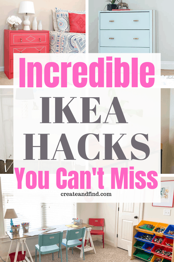 Incredible IKEA hacks you won't want to miss - DIY projects to transform basic IKEA into amazing!  #ikeahacks #IKEA #diyprojects #furnituremakeovers