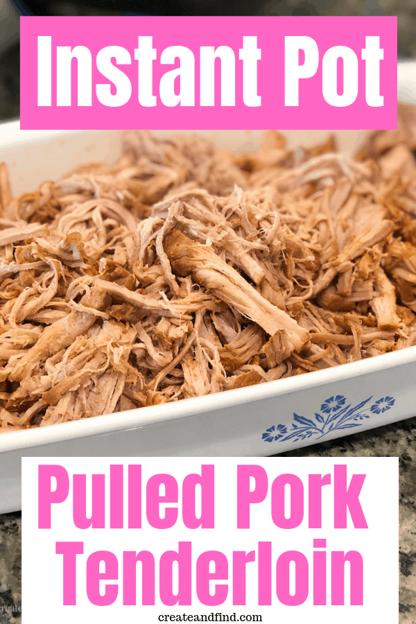 Amazing and easy Instant Pot Pork Tenderloin - pulled pork loaded with flavor in one hour! #instantpot #instantpotrecipes