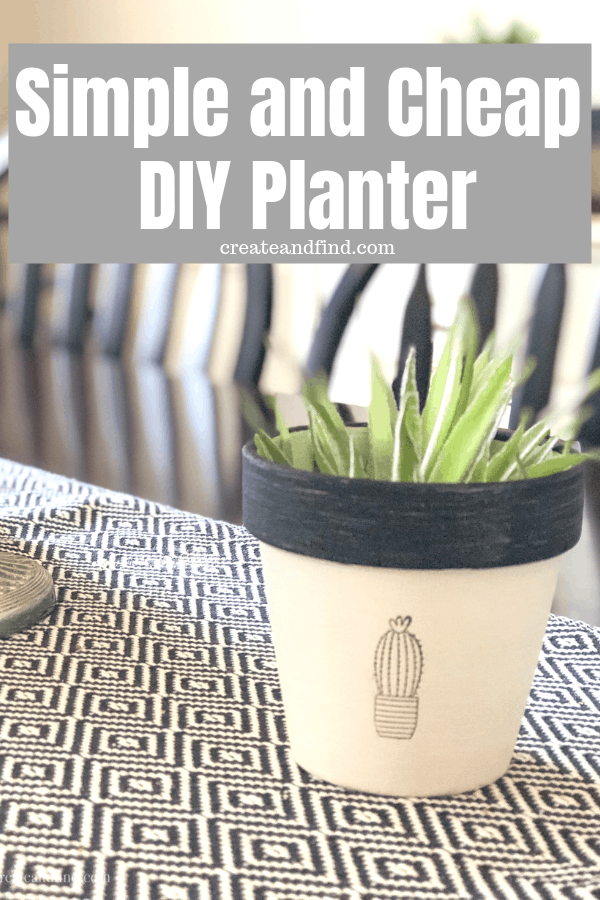 DIY Planters from terra cotta pots
