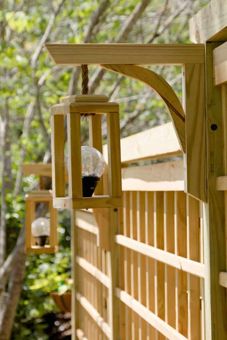 Garden screen trellis DIY, Lanterns solar light, trellis free how to plans