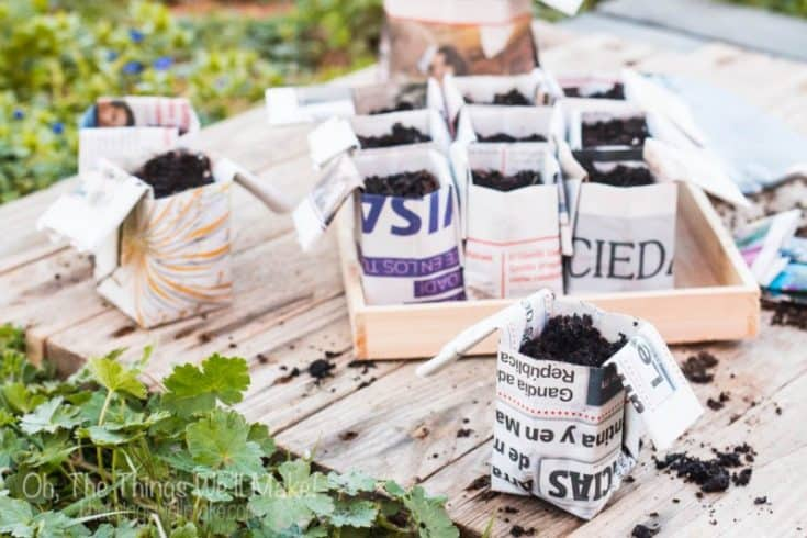 Quick, DIY, Origami Flower Pots From Recycled Newspaper